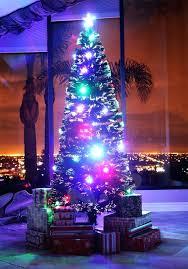 6 ft white fiber optic tree fibre optic tree with