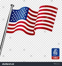 Us Flag Vector Free Download American Flag On Transparent Background Happy Stock Vector