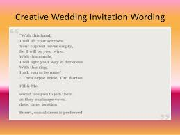wedding invitations sayings wedding invitation wording for friends in lovely unique