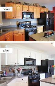 before and after kitchen cabinets pretty before and after kitchen makeovers