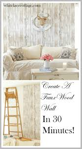Wood Peel And Stick Wallpaper by Reusable Wallpaper Faux Wood Accent Wall White Lace Cottage