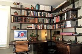Office Desk Shelves Floating Wall Shelves Desk White Wooden Swivel Chair Loversiq