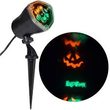Orange Icicle Lights Halloween by Led Light Show Spotlight Swirling Happy Halloween