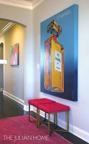 Pop Art Rugs Foyer With Oversized Chanel No 5 Art Contemporary Entrance Foyer