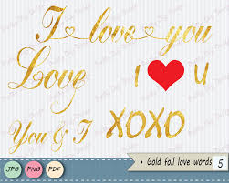Wedding Cards Invitation Valentine U0027s Gold Foil Words Clipart Gold Word Overlay Words Clip