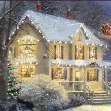 amazon com thomas kinkade the night before christmas illuminated