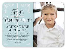 communion invitations boy decorative borders boy 5x7 invitation communion