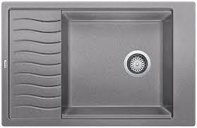 blanco metallic gray sink blanco 401616 sop1491 precis single bowl dual mount silgranit sink