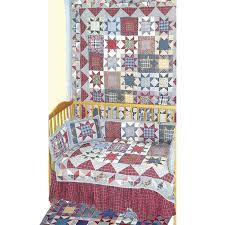 Denim Crib Bedding Patch Magic Denim Burst 9 Crib Bedding Set Reviews Wayfair