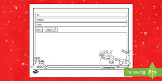 christmas email template ks1 eyfs ict message role play