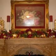 decorating wonderful fireplace mantel christmas decoration