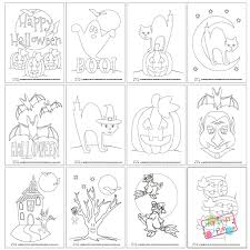 halloween coloring pages itsy bitsy fun