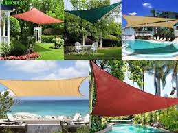 Triangle Awning Canopies Sun Shade Sail Uv Top Awning Outdoor Patio Canopy Cover Triangle