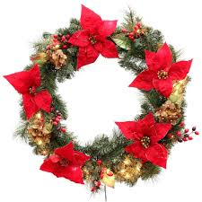 martha stewart living 32 in winterberry artificial wreath with 50