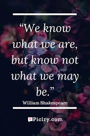 Meaning Of Pink Meaning Of We Know What We Are But Know Not What We May Be Photo