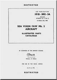 de havilland sea vixen mk 2 aircraft illustrated parts catalogue
