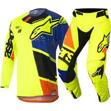 fxr motocross gear 2018 alpinestars techstar factory gear kit yellow blue black