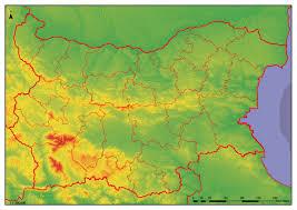 Map Of Bulgaria географска карта българия