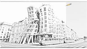 auto draw 2 dancing house prague czech republic youtube