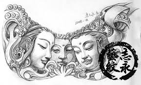 free tattoo designs buddha tattoo flash with three faces