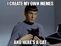 How Do I Create My Own Meme - i create my own memes and here s a cat spock and cat meme make a