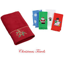 christmas towels christmas bathroom towels