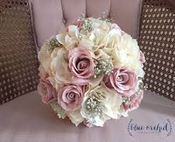 silk flower bouquets bridal bouquet rustic bouquet dusty bouquet baby s breath