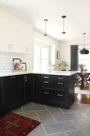 black kitchen tiles ideas impressive tile flooring for kitchen flooring design black