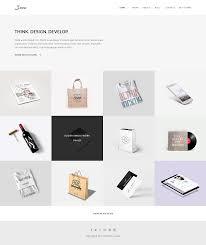snow minimal u0026 clean portfolio psd template by unvab themeforest
