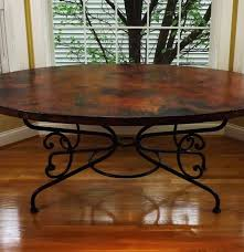 copper dining room tables arabesque oval copper and iron dining table ebth