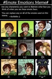 Face Replace Meme - httyd emote emotions meme by midorieyes on deviantart