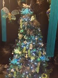 Peacock Blue Christmas Decorations by 135 Best Christmas Tree O Christmas Tree Images On Pinterest