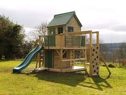 spectacular tall building wooden outdoor playhouse design