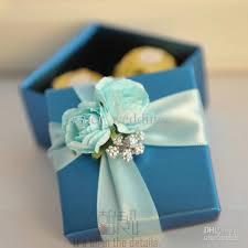 Blue Favors by Beautiful Blue Flower Boxes Blue Paper Square Wedding Favors