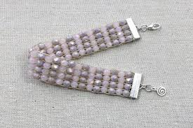 bead weave bracelet images Weave a crystal bracelet on a loom jpg