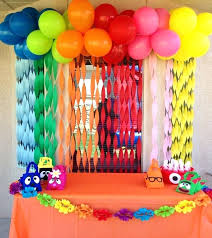 kids birthday party decoration ideas at home party decoration ideas for kids birthday table decorations balloons