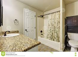 typical american bathroom interior in small house stock photo
