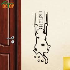 Decoration Cat Wall Decals Home by Aliexpress Com Buy Help Cat Wall Stickers Creative Wall