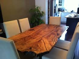Urban Dining Room Table - maple live edge dining table eclectic dining room toronto