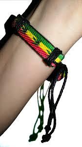 leather leaf bracelet images Hemphasise marijuana leaf rasta flag adjustable leather handmade png