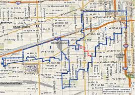 chicago map side district map