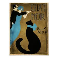 art deco cat ring holder images Vintage poster chat noir black cat art deco poster jpg