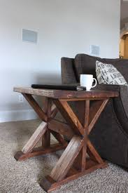 ana white 20 trestle side table featuring rogue engineer diy