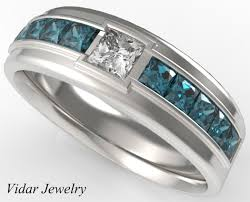 mens wedding rings unique princess cut wedding ring for a vidar jewelry