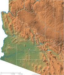 map of az arizona physical map and arizona topographic map
