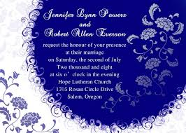 royal blue wedding invitations personalized unique white and blue summer wedding invitation card