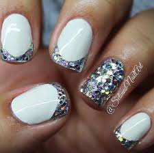 35 sparkly french tip nail designs related nails