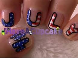 fourth of july nail art youtube