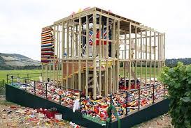 wood lego house does the construction industry use human scale lego style bricks