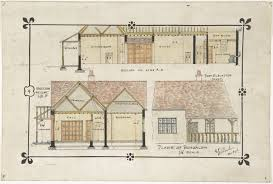 ernest geldart bungalow drawing western elevation and